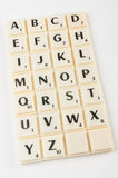 Scrabble Aplhabet Stock Images