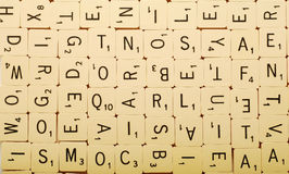 Scrabble background Stock Photography