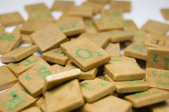 Scrabble bricks Stock Photography