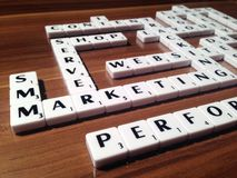 Scrabble with business terms