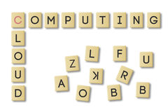 Scrabble: cloud computing Royalty Free Stock Image