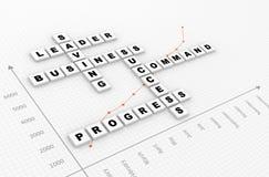 Scrabble di affari Fotografia Stock
