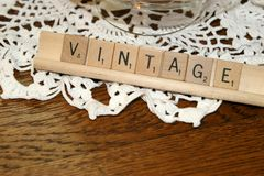 Scrabble do vintage Foto de Stock