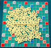 Scrabble Fun with Alphabets royalty free stock photo