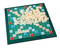 Scrabble game. The scrabble game isolated on white background Royalty Free Stock Images