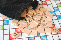 Scrabble Game Stock Photo