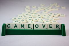 Scrabble GAME OVER Stock Image