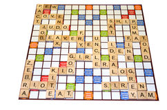 Scrabble game result scores (Close-up) Royalty Free Stock Photography