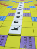 Scrabble Game Tiles - Knowledge Stock Image