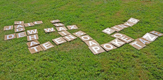 Scrabble on the Lawn Stock Images