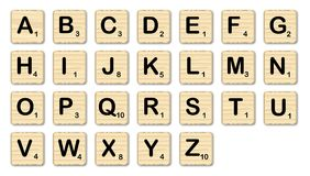 Scrabble Letter Buttons On A White Background Royalty Free Stock Images