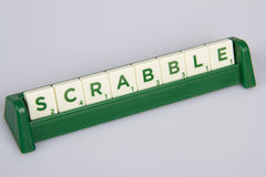 Scrabble Letter Tiles On The Board Stock Images