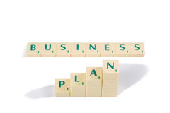 Scrabble Letter Tiles For Business Plan Concept Royalty Free Stock Photos