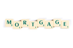 Scrabble Letter Tiles Forming Mortgage Word Stock Images