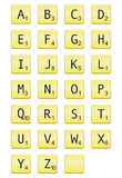 Scrabble Letters. A full set of scrabble letters including one blank royalty free illustration