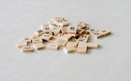 Scrabble Letters stock photography