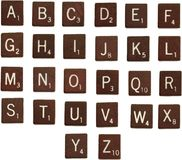 Scrabble letters alphabet. Isolated photo of the alphabet in scrabble letter tiles Royalty Free Stock Photo