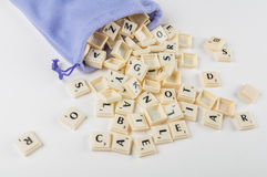 Scrabble Letters Stock Images