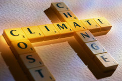 Scrabble letters carbon tax royalty free stock photography