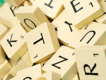 Scrabble letters Close-up Royalty Free Stock Photos