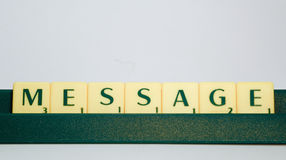 Scrabble letters Royalty Free Stock Photography