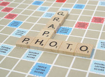 Scrabble Pieces 3. Photo of Scrabble Board With Pieces Spelling Photo and Graph - Part of Series royalty free stock image