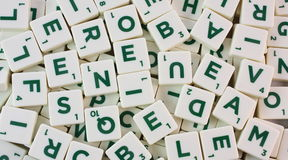 Scrabble pieces Stock Image