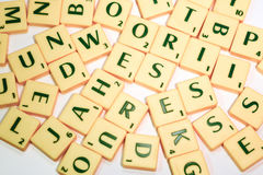 Scrabble pieces Stock Photography