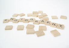 Scrabble pieces - photography. Wooden Scrabble Pieces Spelling The Word Photography royalty free stock image