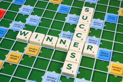 Scrabble SUCCESS and WINNER Stock Photo