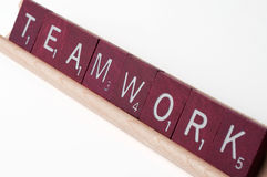 Scrabble Teamwork Stock Image