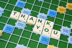 Scrabble THANK YOU Royalty Free Stock Images