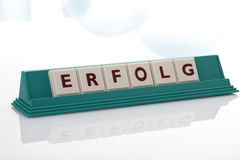 Scrabble tiles forming the single word success Royalty Free Stock Photo