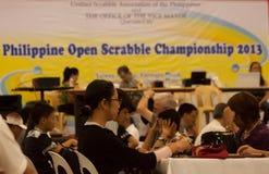 Scrabble tournament Royalty Free Stock Photos