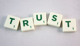 Scrabble TRUST Royalty Free Stock Photography
