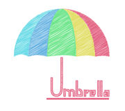Scrabble umbrella logo Royalty Free Stock Photography