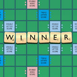 Scrabble Winner Royalty Free Stock Photography