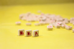 Scrabble word game in peace Royalty Free Stock Images