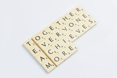 Scrabble words related to the word team in English Royalty Free Stock Photography