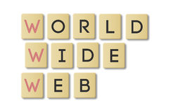Scrabble: World Wide Web Stock Photo