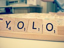 Scrabble YOLO Royalty Free Stock Image