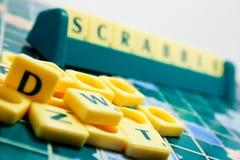 Scrabblebrett Stockfoto