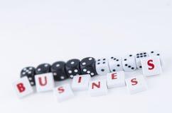 Scrabbled kawałki tworzy słowo biznes Zdjęcia Royalty Free