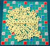 Scrabblegyckel med alfabet Royaltyfri Foto