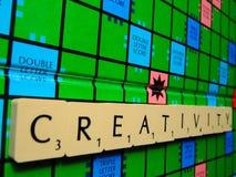 Scrabblekreativität Stockbilder