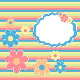 Scrabbok background with flowers Royalty Free Stock Image
