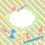 Scrabbok background with sweets Royalty Free Stock Photos