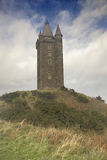 Scrabo Tower. With cloudscape background, Newtownards, County Down, Northern Ireland royalty free stock photos
