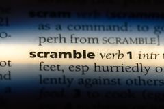 scramble royalty-vrije stock foto's