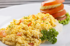 Scramble egg Royalty Free Stock Photo
